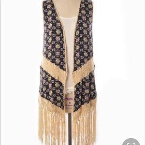 DejaVu creator of Judith March vest with fringe